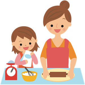 Baking With Mother Clipart, Cliparts Of #309287.