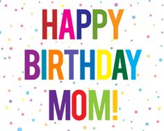 Happy birthday mom clipart 5 » Clipart Station.