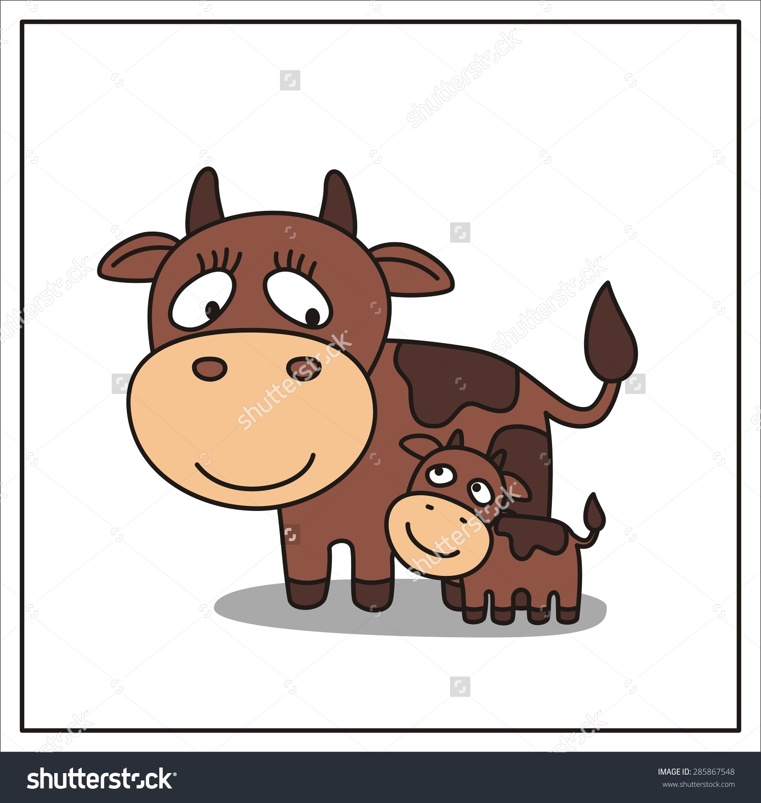 Mom cat and her calf clipart - Clipground for Cow And Calf Clipart  111bof