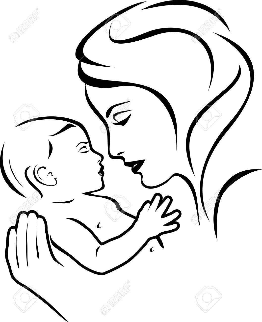 Mother clipart black and white 4 » Clipart Portal.
