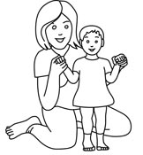 Mom Black And White Clipart.
