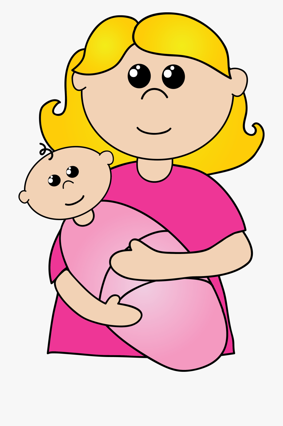 Clipart Of Daughter, Mom And Moms.