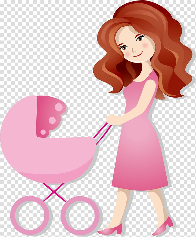 Cartoon Mother , Mother and baby transparent background PNG.