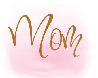 word mom svg.