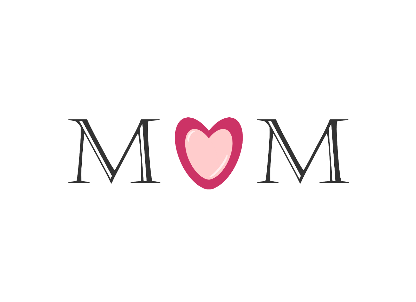 Mom Word Clipart.