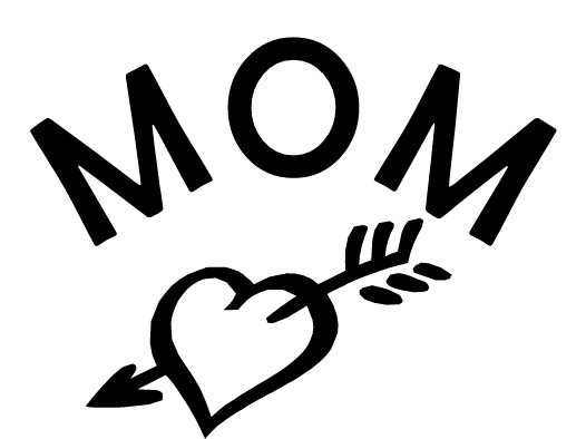 Word Mom Clipart Black And White.