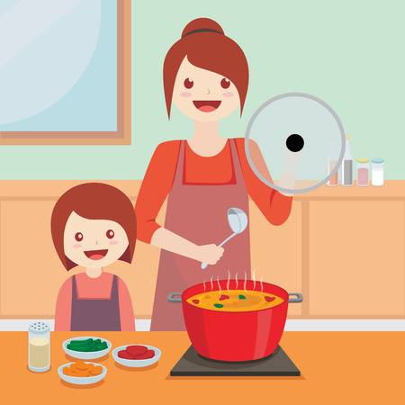 2,085 Mother Cooking Stock Illustrations, Cliparts And.