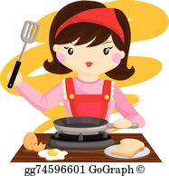 Mom Cooking Clip Art.