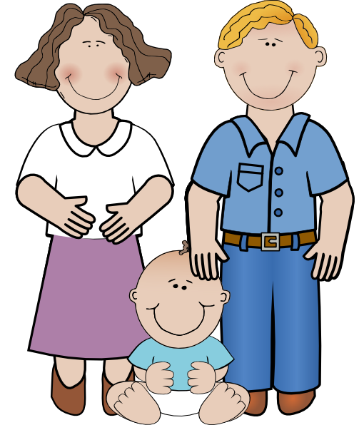 Mom Dad And Baby Clip Art Png #42632.