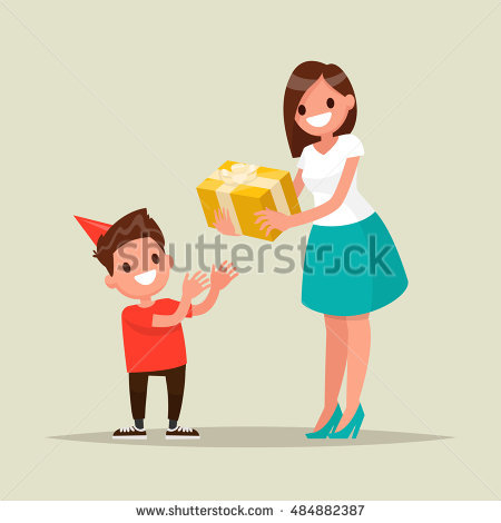 Gift Giving Stock Images, Royalty.