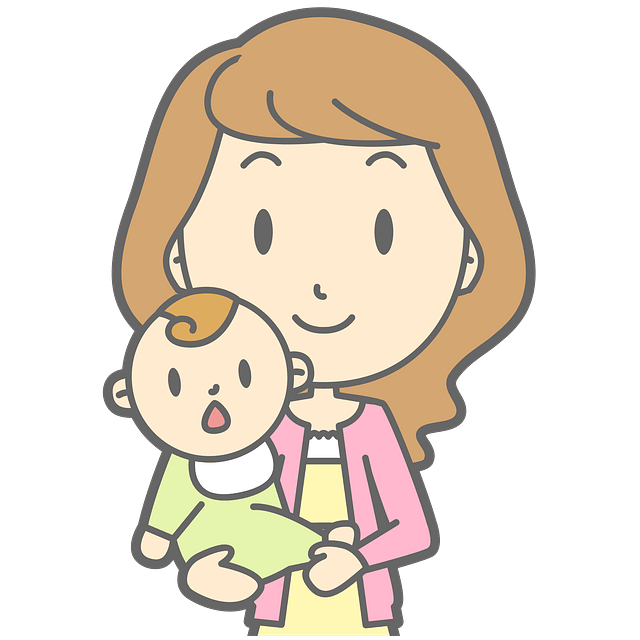 Mother Holding Baby clipart. Free download..