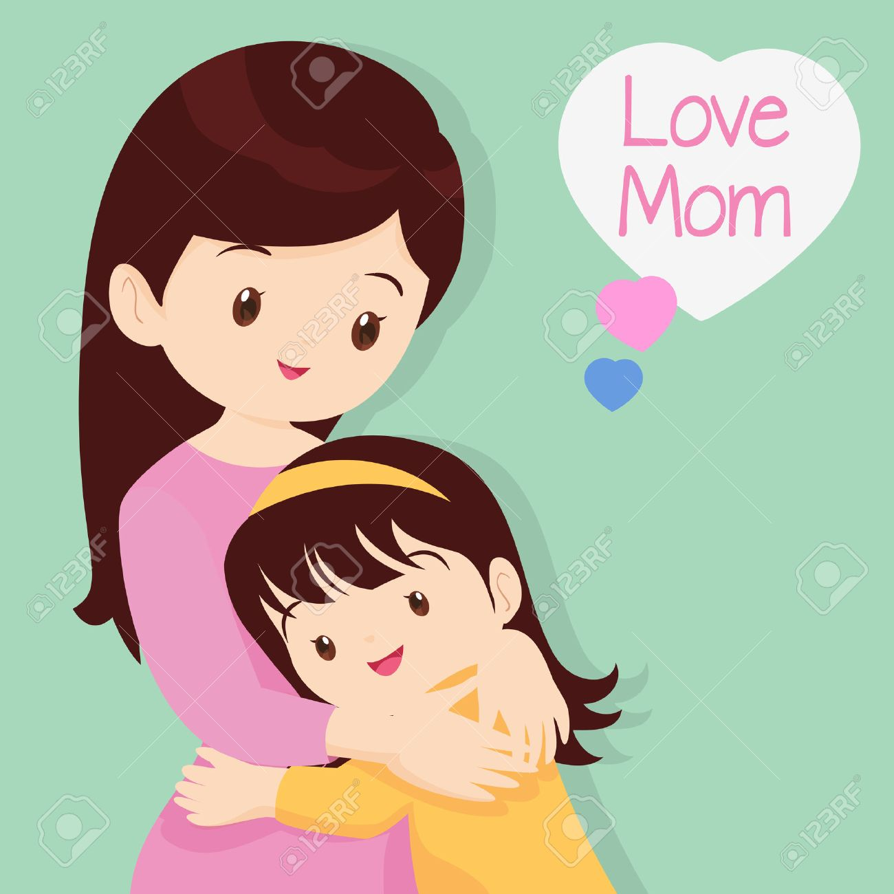 Mother's Day, Embracing, Love, Children of love,Daughter Hugging...