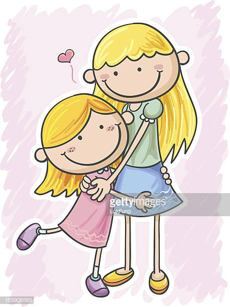 49 Mother Daughter Hug Cartoon Stock Illustrations, Clip art.