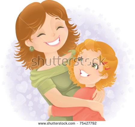 Daughter Mother Stock Vectors, Images & Vector Art.