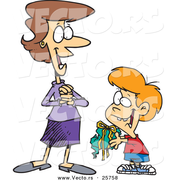 Mom And Son Clipart.
