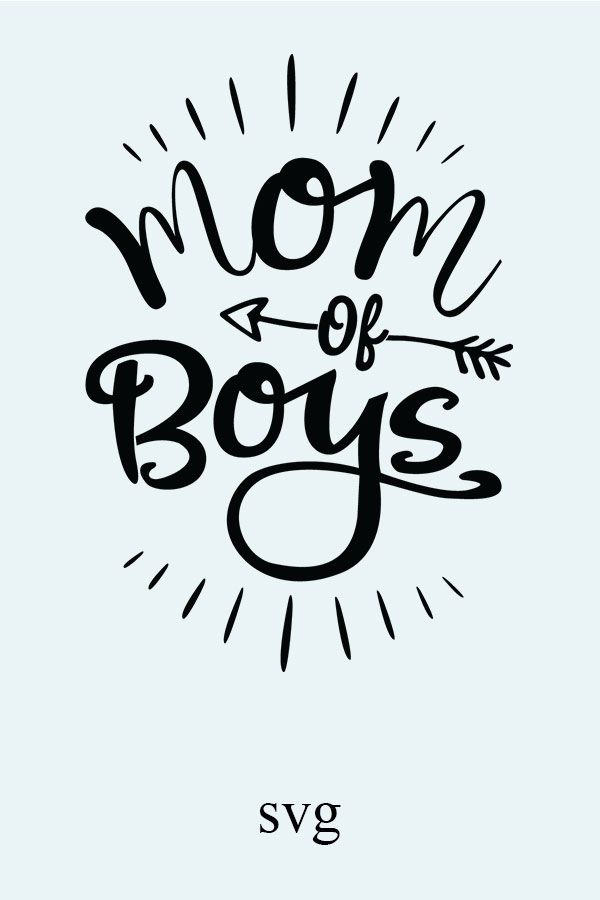 Mom of Boys SVG, EPS. Vector Clipart Digital Silhouette and.