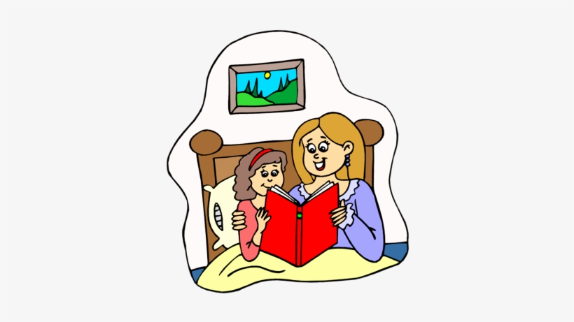 Child Reading Mom Reading Clipart.