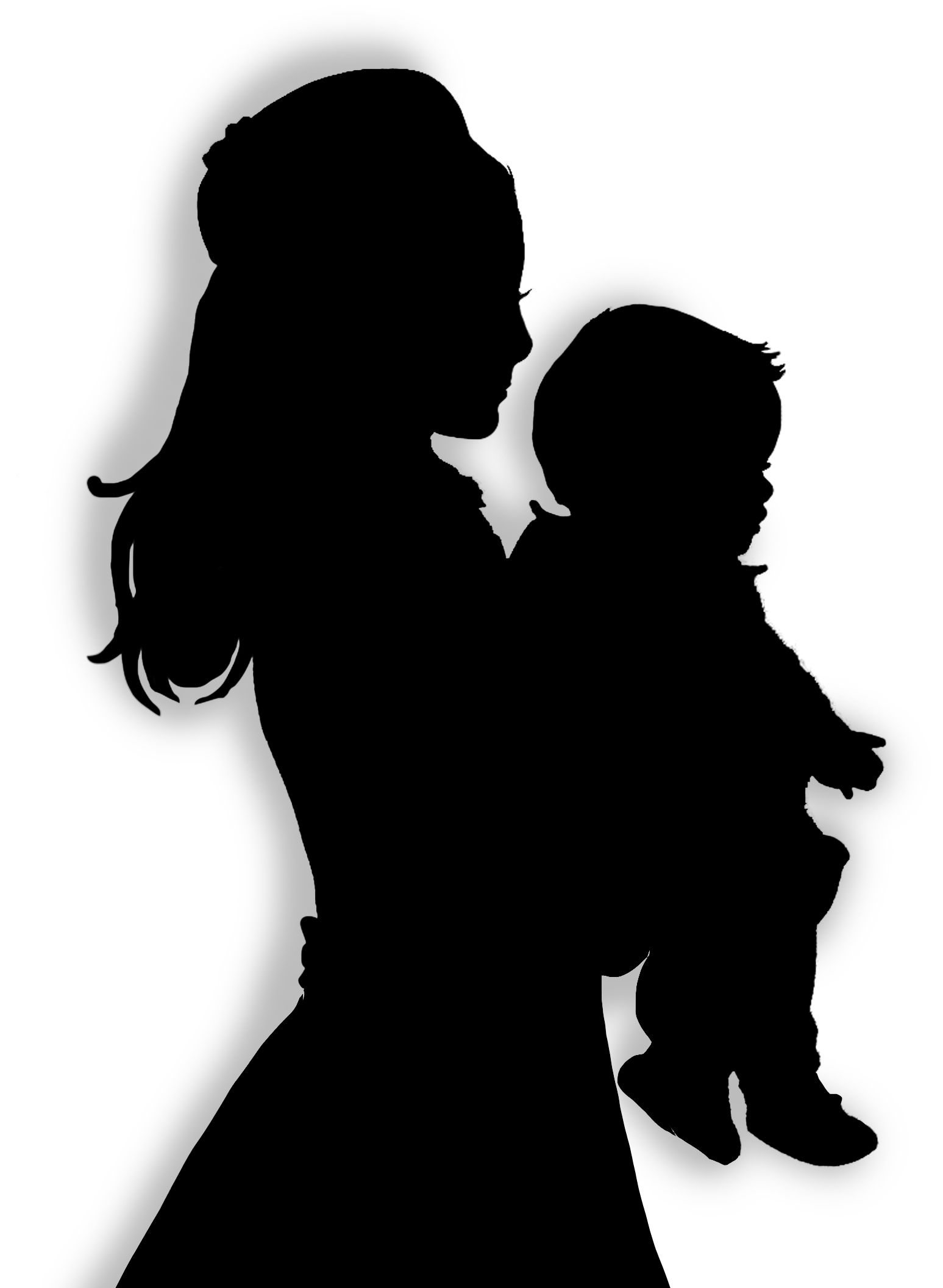 mother silhouette clip art.