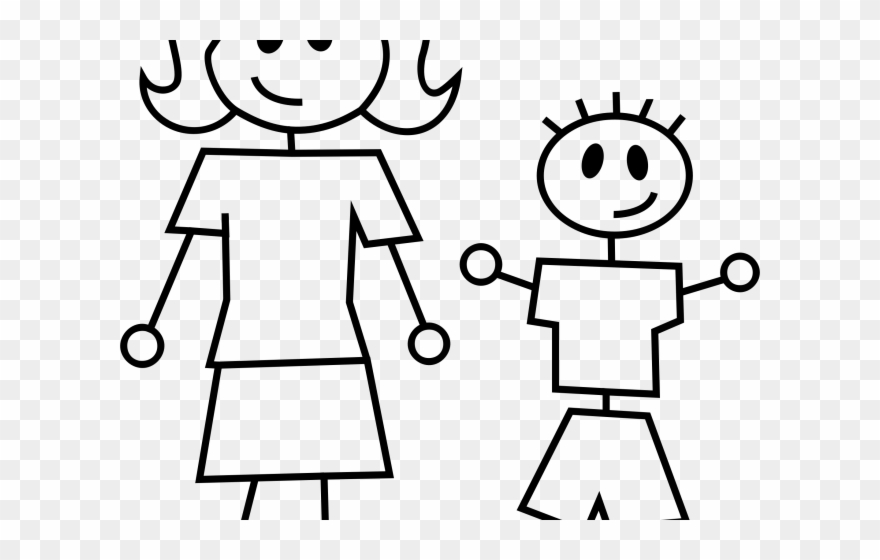 Mommy Clipart Stick Figure.