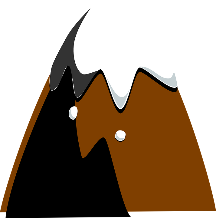Free vector graphic: Mountain, Top, Hill, Snow, Brown.