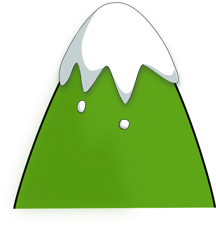 Free vector graphic: Mountain, Top, Snow, Green.