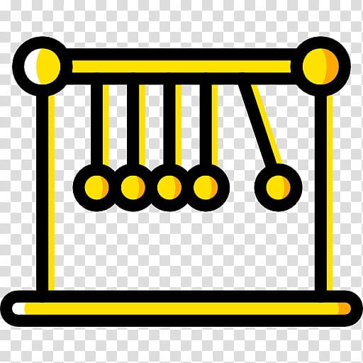 Newtons Cradle Yellow, Momentum, Newtons Laws Of Motion.