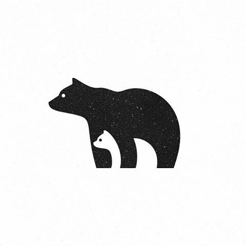 Mama And Baby Bear Outline Free Download Clip Art.