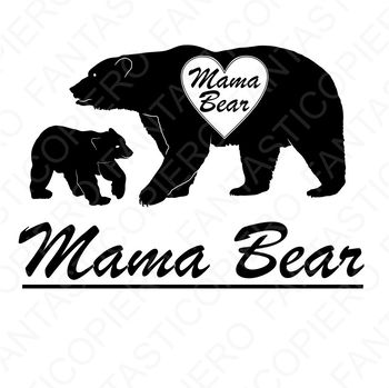 Mama Bear SVG files for Silhouette Cameo and Cricut..