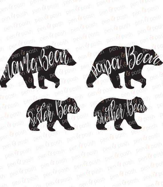 Momma Bear SVG Mama Bear SVG Family Bears SVG Papa Bear.