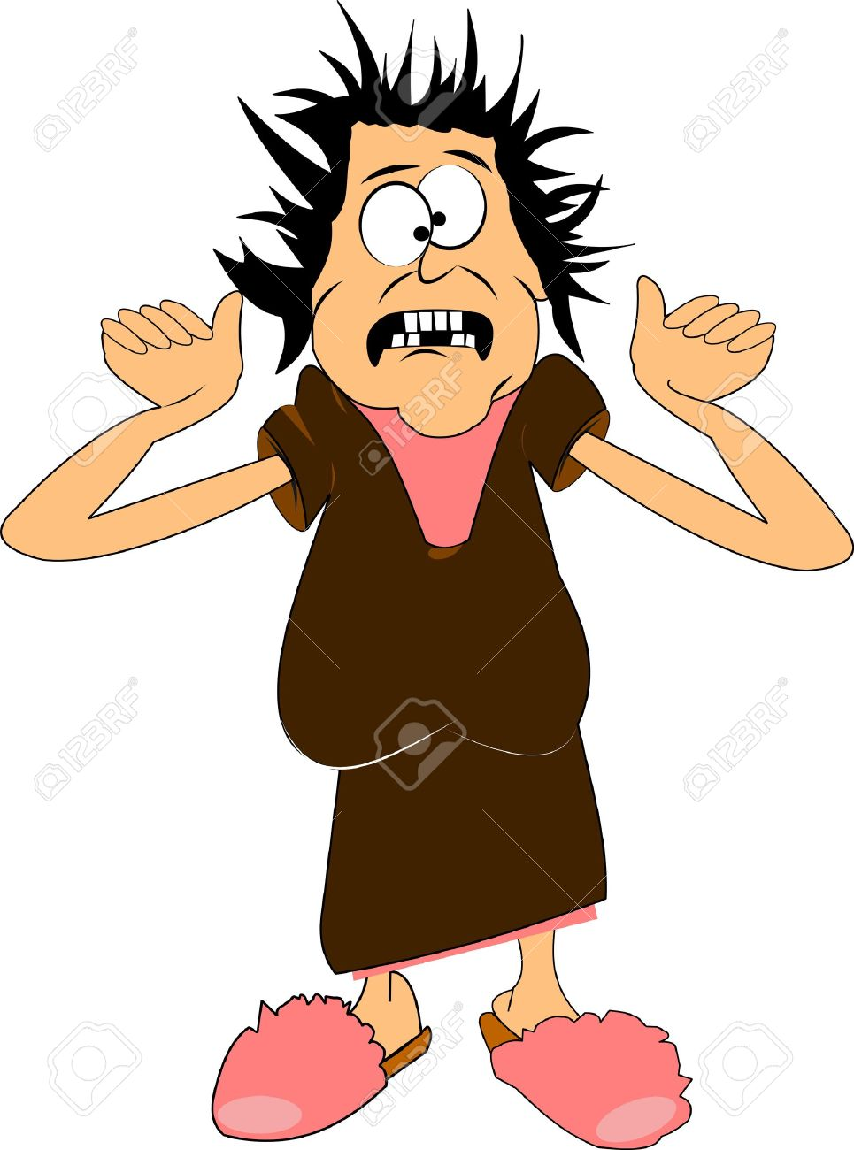 Scared Momma Over White Cartoon Clip Art Royalty Free Cliparts.