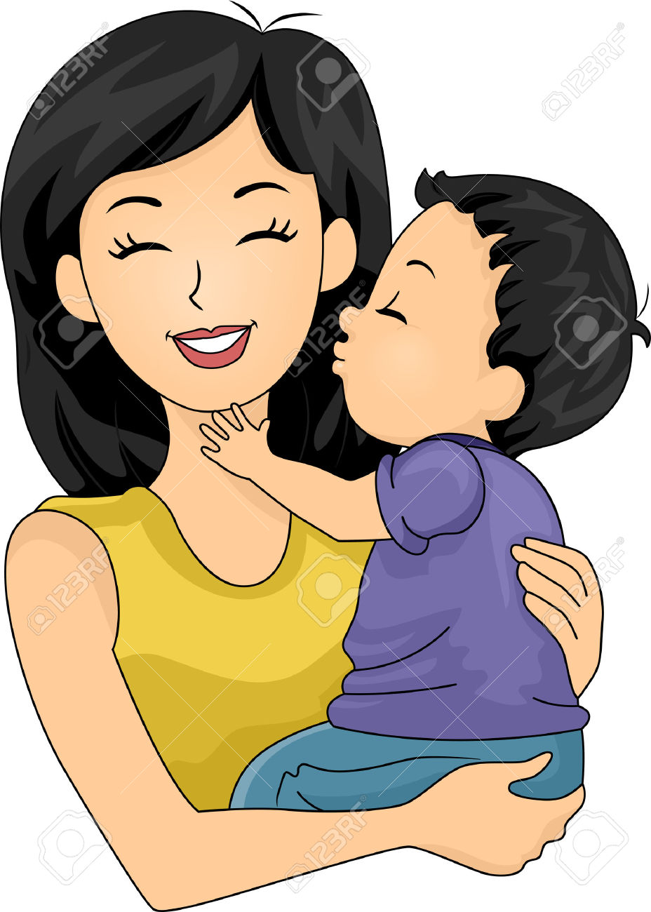 Mommy Kisses Clipart.