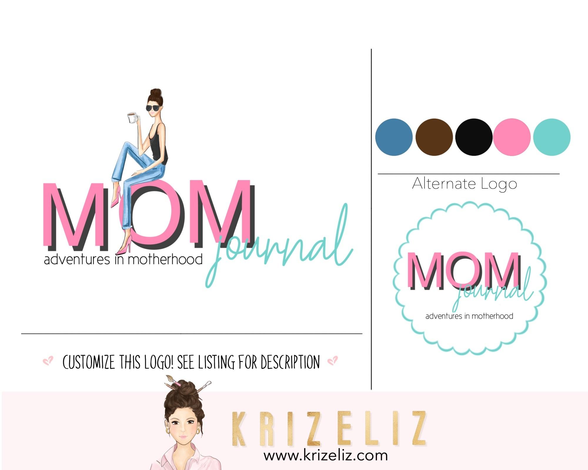 Mommy blogger logo design.