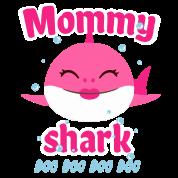 Mommy Shark Doo Doo Shirt Baby Shark T Shirt Mouse pad Horizontal.
