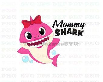 Mommy shark dxf.