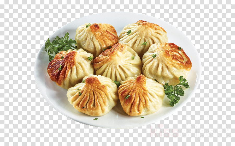 dish food cuisine khinkali momo clipart.