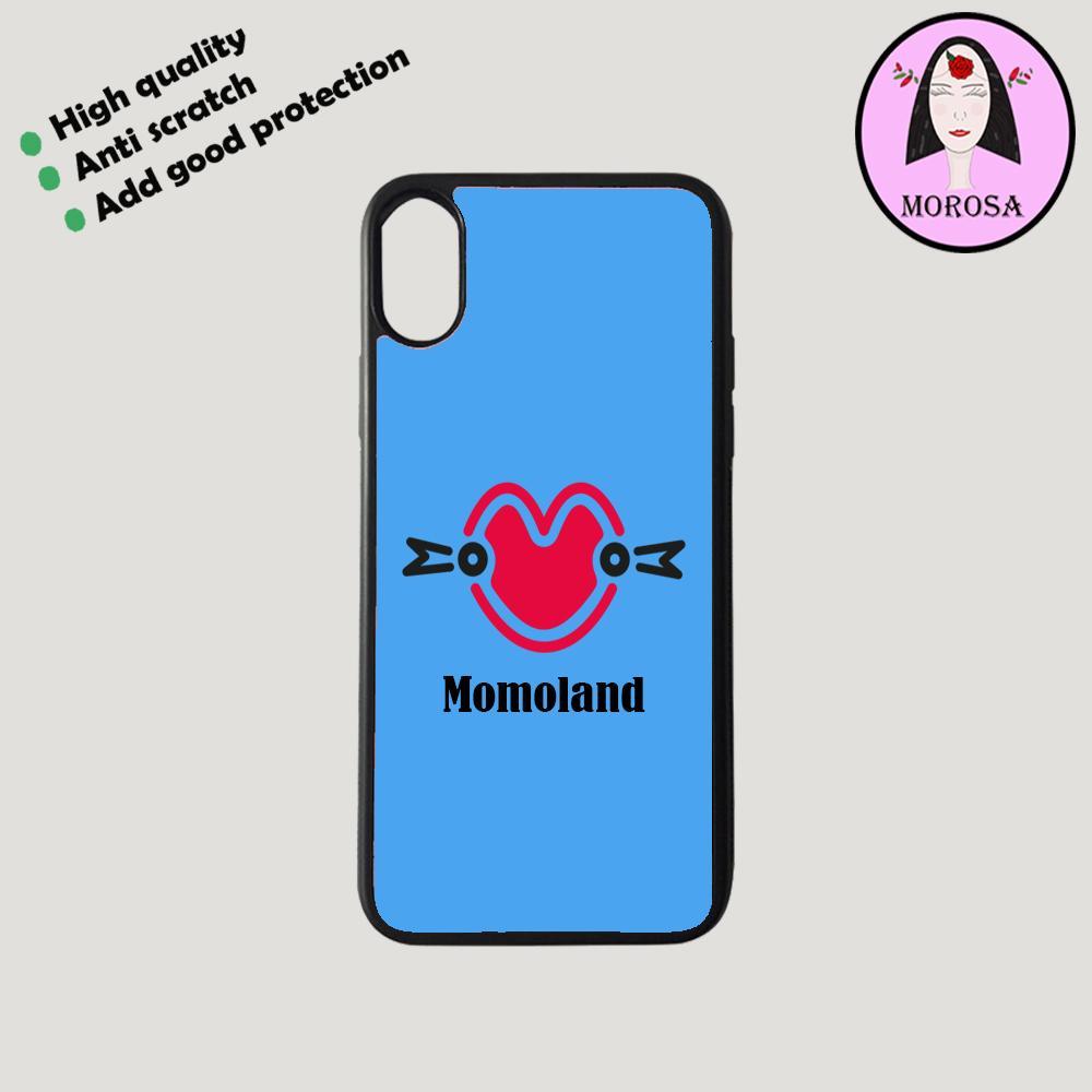 momoland logo case blue color.