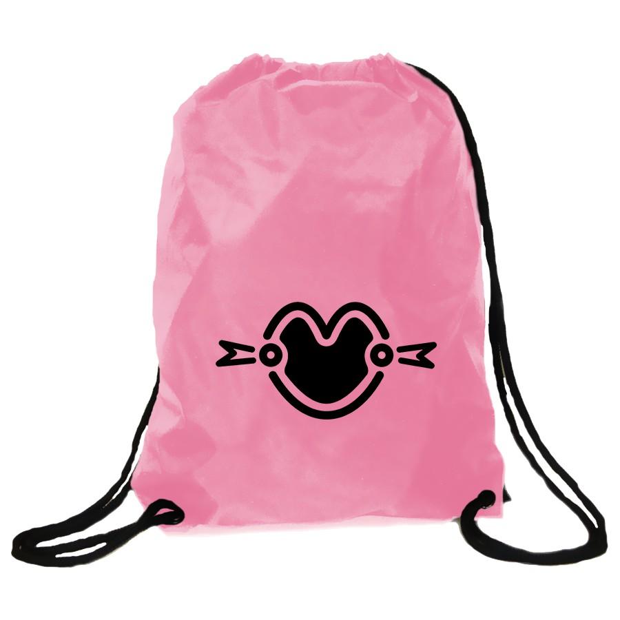 Momoland Logo Drawstring Bag Pink.