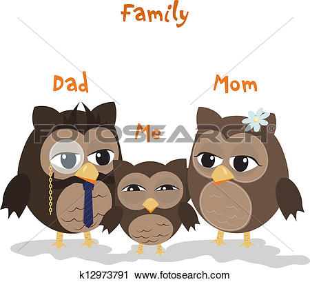 Clipart of Mon,Dad and Me k12973791.