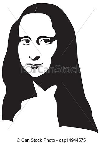 Vectors Illustration of The Mona Lisa csp14944575.