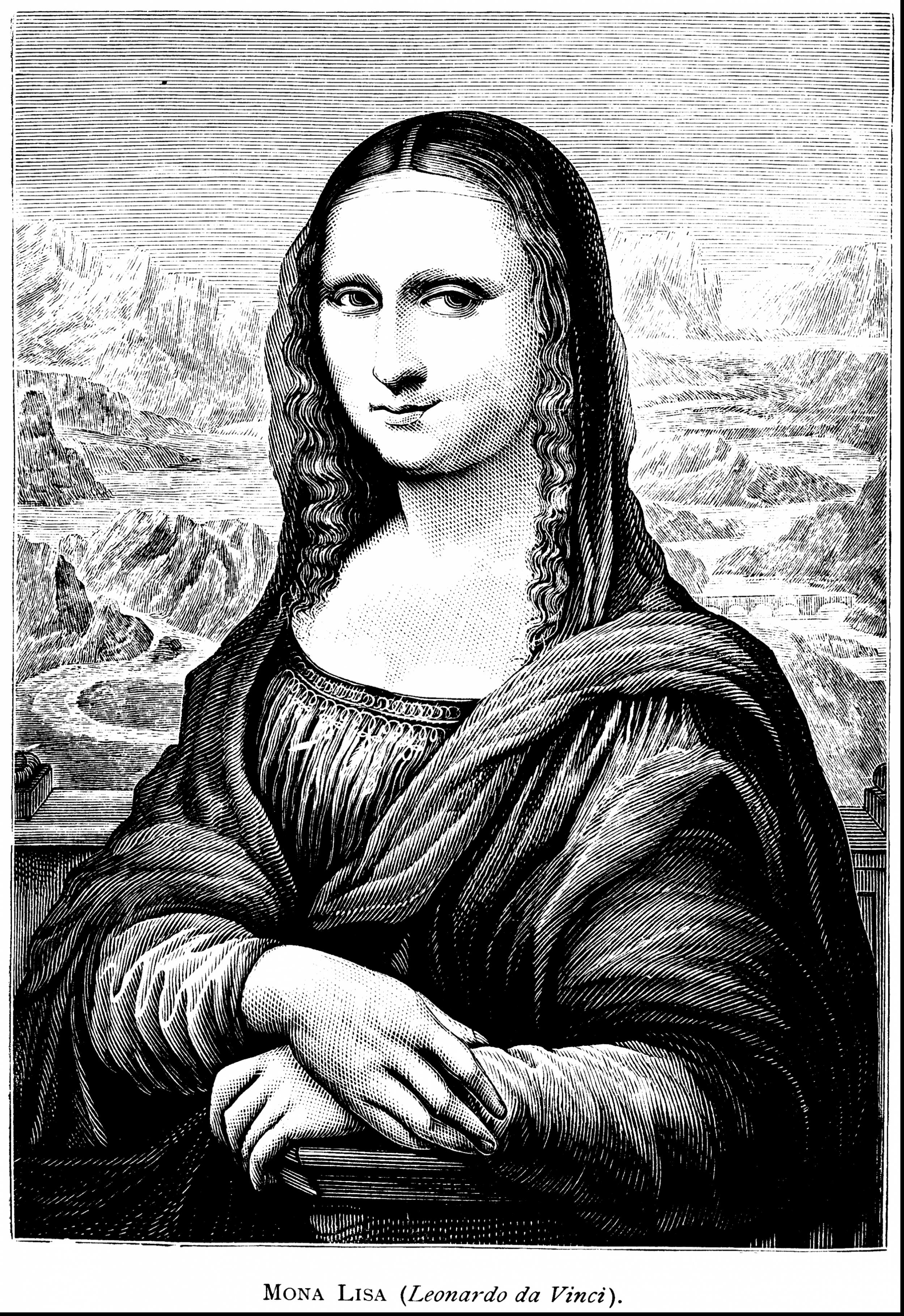 Impressive mona lisa coloring page with mona lisa coloring page.