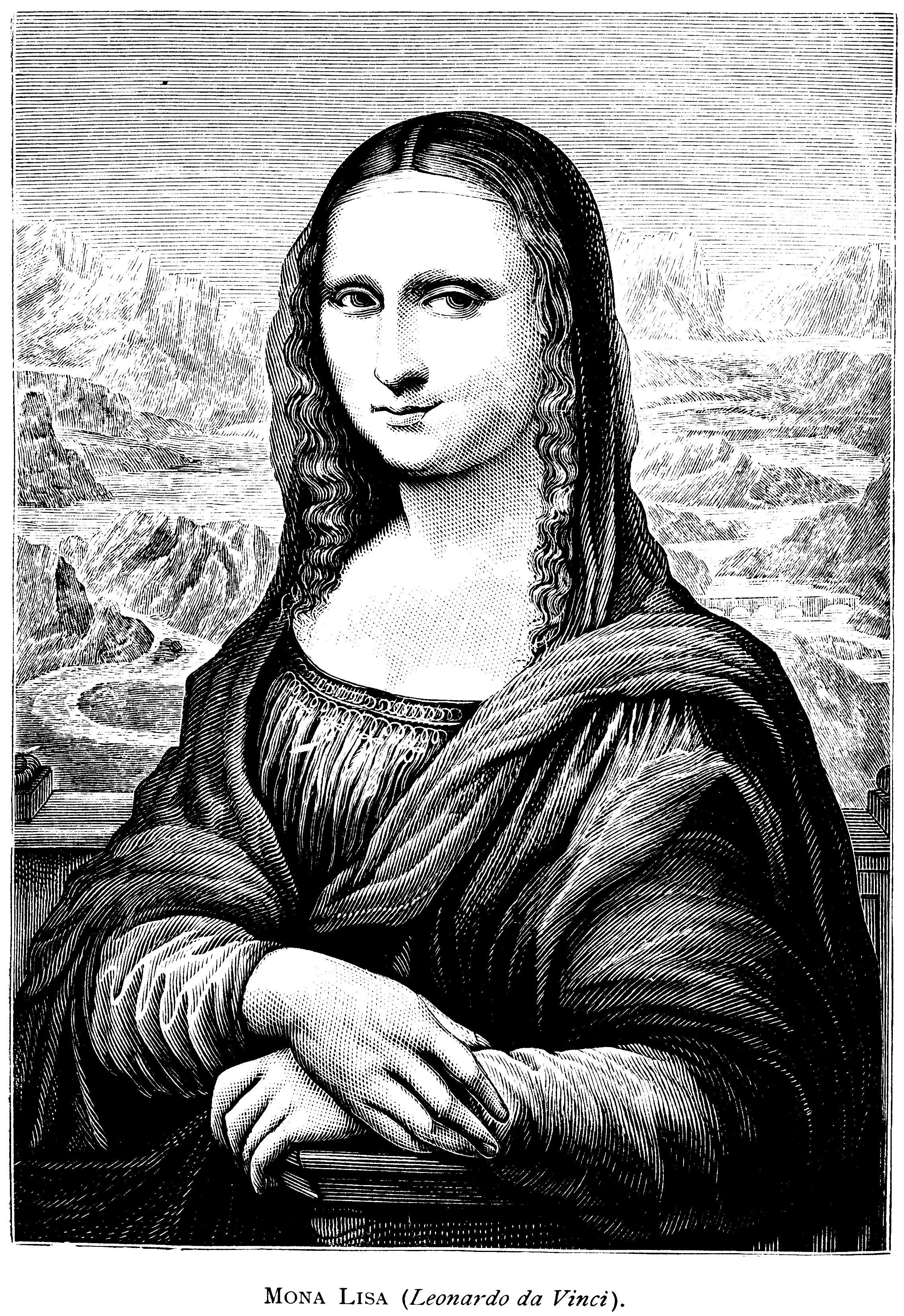 Mona Lisa Clipart Free.