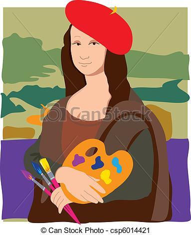 Vector Clip Art of Mona Lisa Artist.