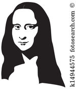 Mona lisa Clipart and Illustration. 29 mona lisa clip art vector.
