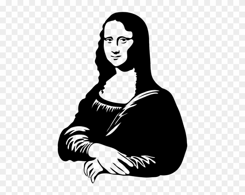 Mona Lisa Clipart Outline.