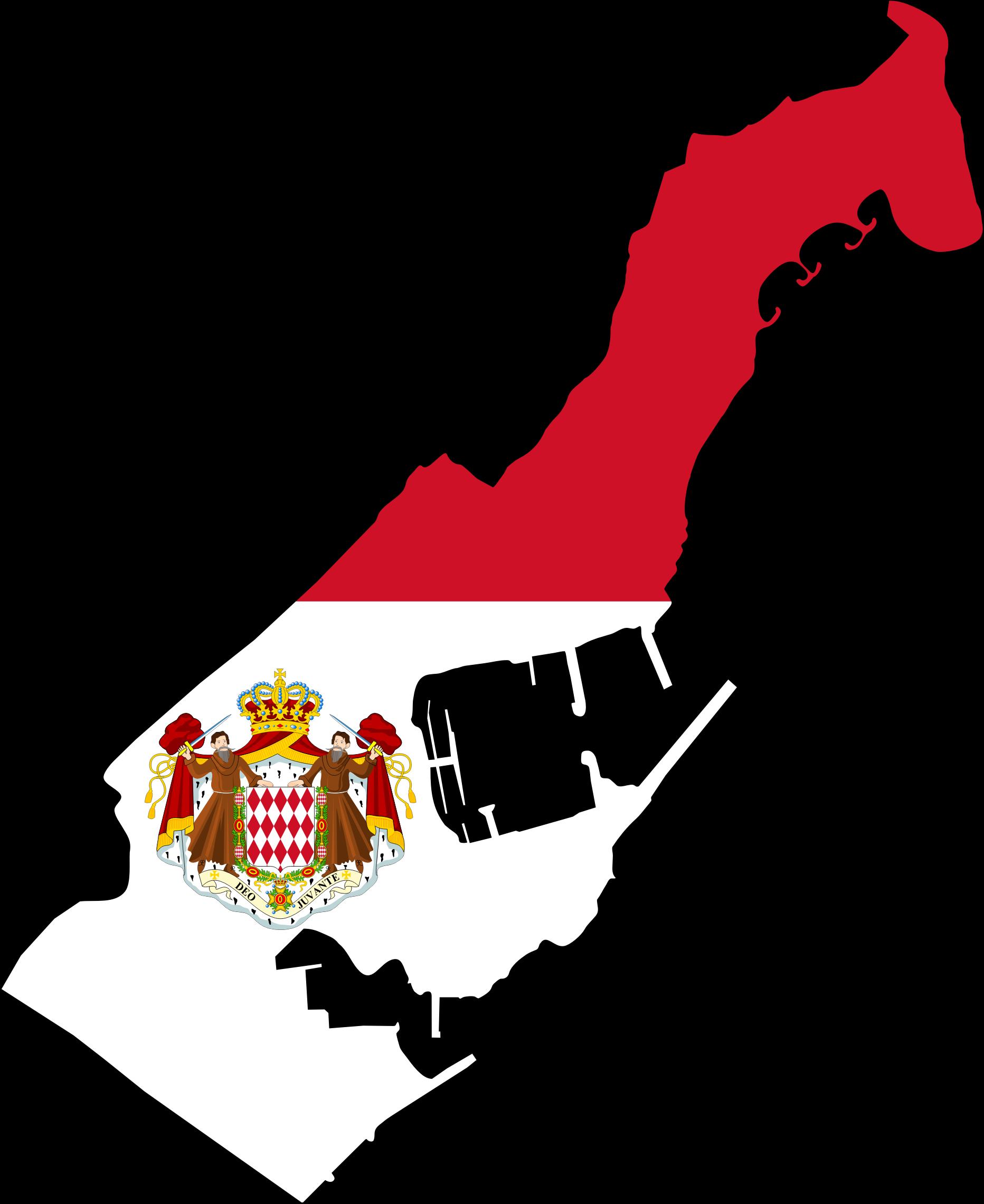 Monaco Map Clipart.