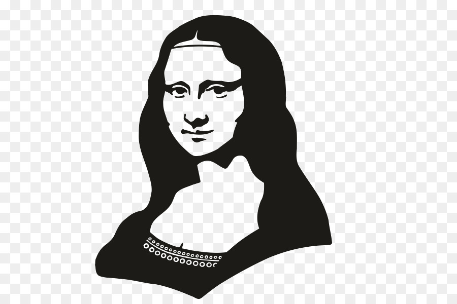 Mona Lisa Black And White png download.