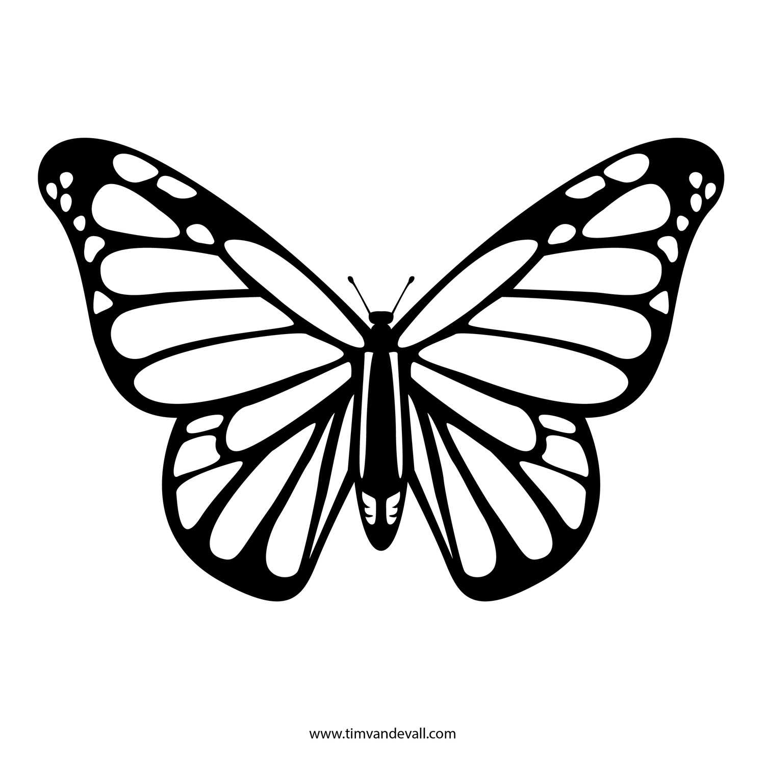 412 Monarch Butterfly free clipart.