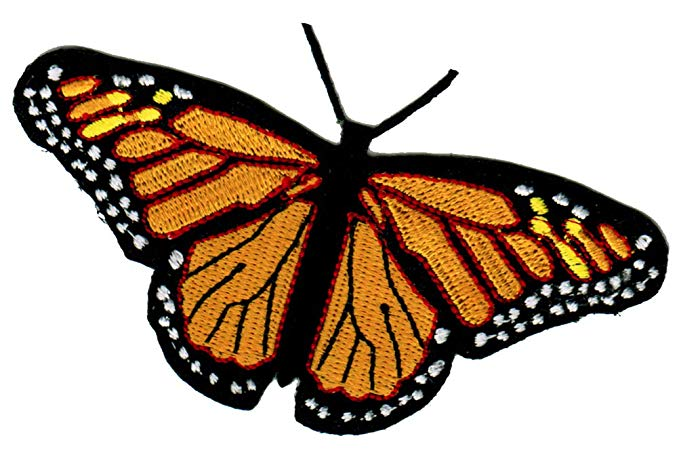 Monarch Butterfly Patch Iron.