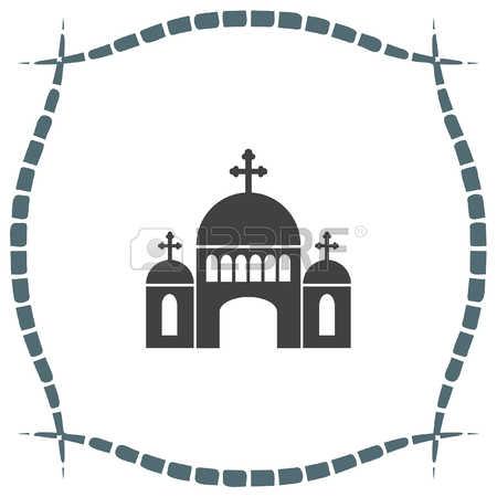 Religious Symbol: Church Vector Icon. Monastery, Religious Symbols.