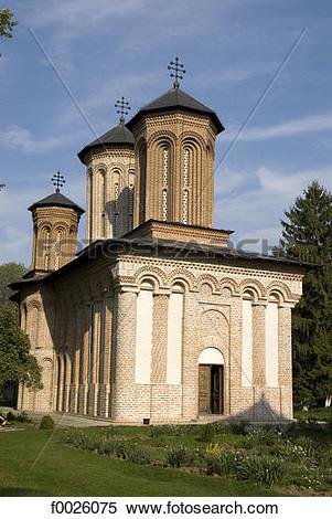 Stock Image of Romania, Muntenia, near Bucharest, church of Snagov.